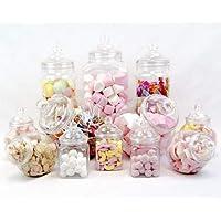 12Pot vintage style victorien Pick & Mix Sweet Shop Candy Buffet kit Pack de fête