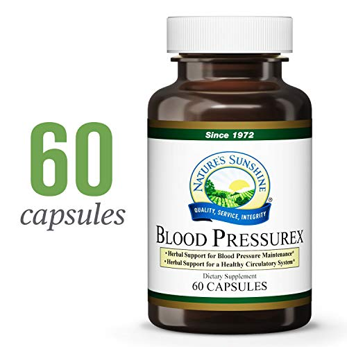 Nature s Sunshine Blood Pressurex, 60 Capsules Promotes Optimal Blood Flow by Supporting General Blood Vessel and Cardiovascular Health