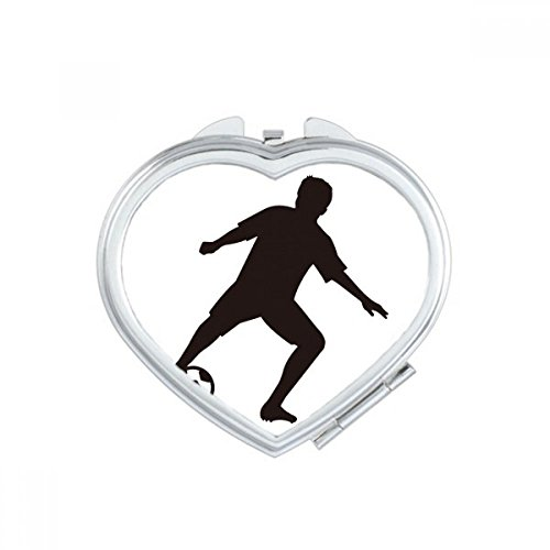 DIYthinker Silhouette Soccer Football Sports Heart Compact Makeup Pocket Mirror Portable Cute Small Hand Mirrors Gift by DIYthinker