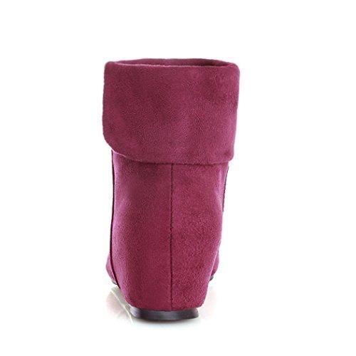 inverno per e donna breve e sia l'elegante e aumentare lato autunno corto Stivali X stivali versatile Brown testa in Stivali nel a rotonda In ZQ qvOXwAR