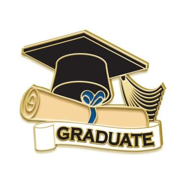 Graduate Lapel Pins - Color Enamel Graduation Award Pins Prime