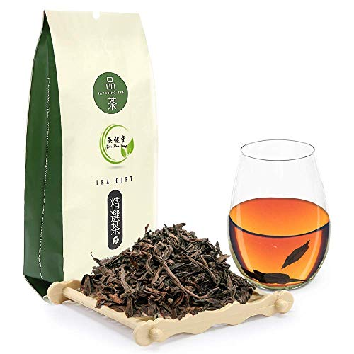 Yan Hou Tang Chinese Grey Tea Loose Leaf Da Hong Pao Oolong Wuyi Rock Classic - 100g Ripe Cinnamon Big Red Robe Black Tea for Skin Health