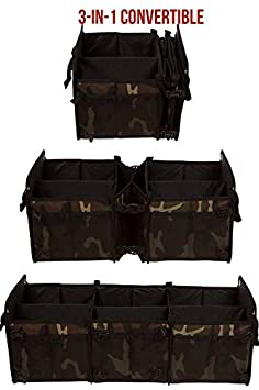Jeep 3-in-1 with Insulated Cooler Bag with Tie Down Straps Auto 3-in-1 w//Cooler, Black SUV Cargo Organizer and Grocery Organizer for SUV Tuff Viking SUV Trunk Organizer for Cars Minivan