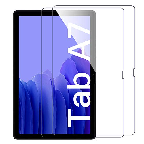 [2 Pack]ZoneFoker Screen Protector for Samsung Galaxy Tab A7 10.4 inch 2020 tablet, [Anti-Scratch][Easy Installation][Bubble Free] Tempered Glass for Galaxy Tab A7 10.4 2020 SM-T500/T505/T507 (Color: Clear)
