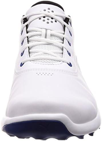 PUMA Golf Mens Grip Fusion Spikeless Golf Shoes White