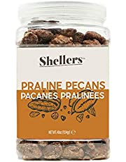 Shellers - Delicious and Crunchy Praline Pecans jar of 1.1 kgs (2.5 lbs) Very Fresh and Sweet Candy Coated Snacks and/or toppings