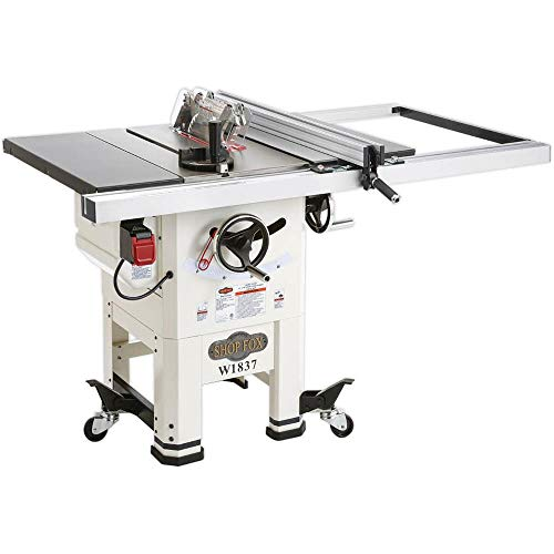 Shop Fox W1837 10' 2 hp Open-Stand Hybrid Table Saw