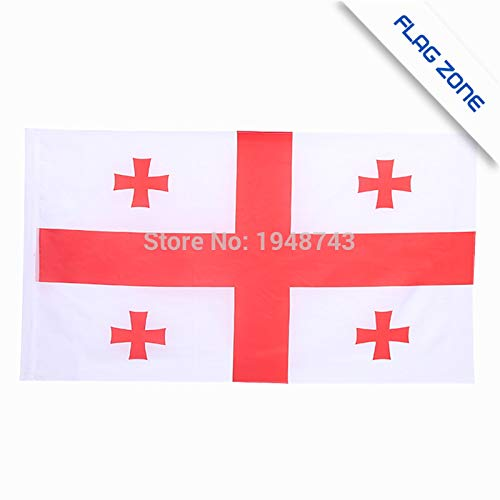 Value-Smart-Toys - The Georgia Flag Polyester Flag 5x3 FT 150x90 CM Cheap Price In-kind ()