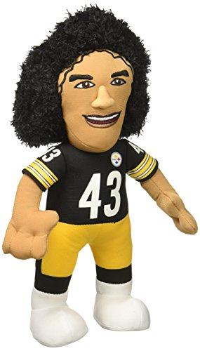 (Bleacher Creatures NFL Pittsburgh Steelers Troy Polamalu Plush Figure, 10