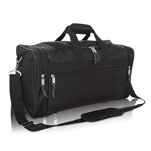 DALIX Blank Duffle Bag Duffel Bag in Black Gym Bag