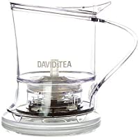 DAVIDsTEA Tea Steeper for Loose Tea with Lid, Bottom Dispensing Tea Infuser