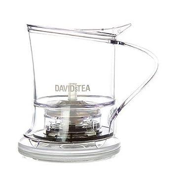 DAVIDsTEA Tea Steeper for Loose Tea with Lid, Bottom Dispensing Tea Infuser (18 oz / 500 mL)