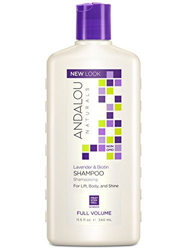 Andalou Naturals Lavender and Biotin Full Volume Shampoo, 11.5 fl. oz. (Pack of 2)