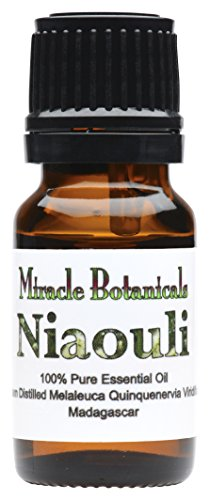 Miracle Botanicals Organic Niaouli Essential Oil - 100% Pure Melaleuca Quinquenervia - Therapeutic Grade - 10ml