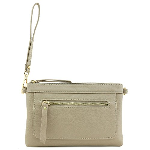 Multi and Dove Crossbody functional Bag Clutch Wristlet zC7zqr
