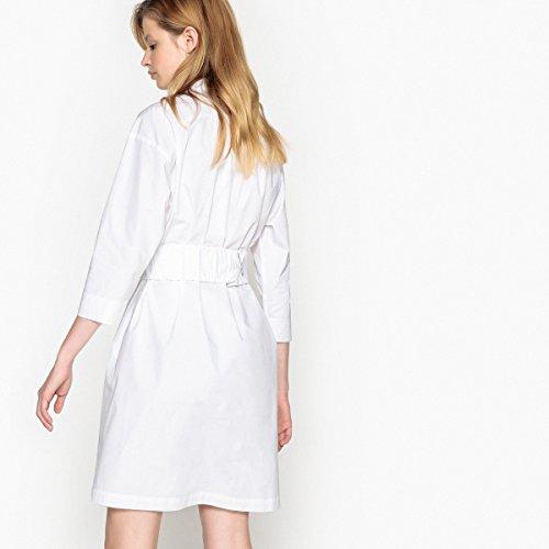 Mit Weiß Hemdkleid Collections Gurtel La Redoute Frau Elastischem 08zwpIqU