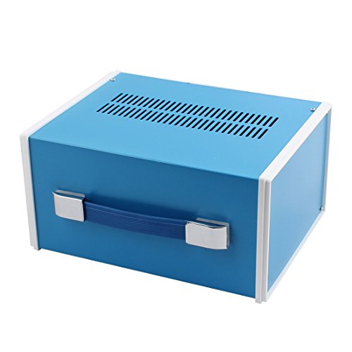 uxcell 270mm x 210mm x 140mm Rectangle Project Enclosure Case Electric Junction Box Blue - Adapter Box Junction