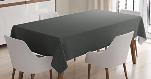 Ambesonne Grey Tablecloth, Digital Creation of an Abstract Dark Colored Background Classical Print, Dining Room Kitchen Rectangular Table Cover, 60 W X 84 L inches, Grey Teal Pale Sage Green