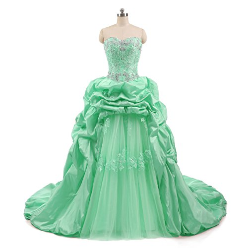 Style1 ANGELA s mint Women Dresses Beaded Long Lace Sweetheart Prom Quinceanera zZScOqz