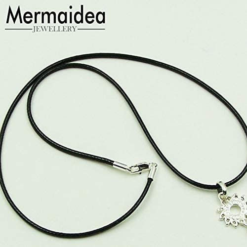 SELITE 2019 Brand New Black Leather Rope Necklace Silver Color Lobster Clasp Choker Cool Men Gift Women Gift Untuk Wanita Jewellery