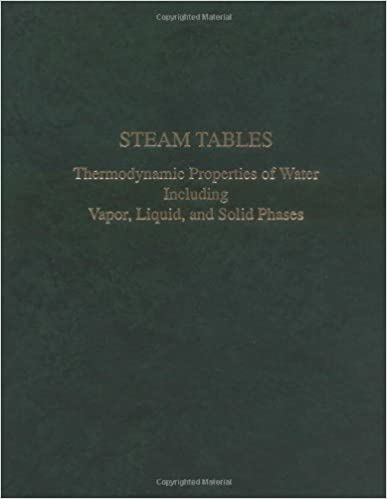 Amazon.com: Steam Tables : Thermodynamic Properties of Water ...
