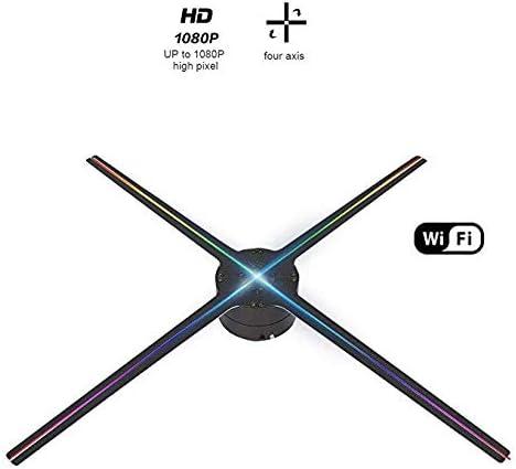 YLIK Holograma 3D Ventilador del proyector, Pantalla de la máquina ...