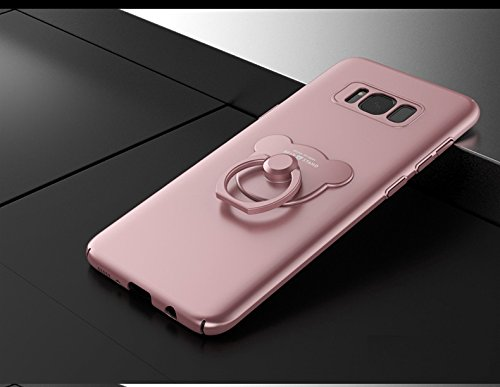 Samsung Galaxy S8 / S8 Plus , Manyip Cases and covers Alta Calidad Ultra Slim Anti-Rasguño y Resistente Huellas Dactilares Totalmente Protectora Caso de Plástico Duro Cover Case,+Ring stand holder(AQM E