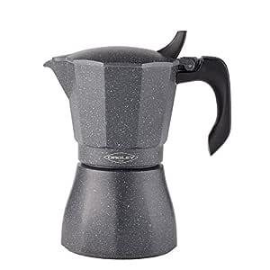 Oroley - Cafetera Italiana Petra Inducción Base de Acero Inoxidable, 6 Tazas