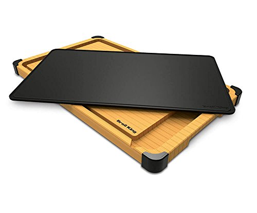 - Broil King 68426 Deluxe Cutting and Serving Board, Brown