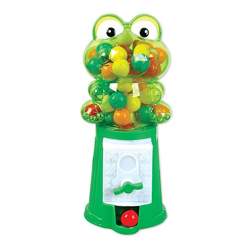 "Rhode Island Novelty SS-RIN FRBUBFR 7.5"" Frog Gumball Machine"