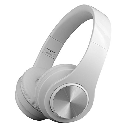 Bluetooth Headphones,Teetox Over Ear Hi-Fi Stereo Wireless/Wired Headset,Foldable,CVC 6.0 Noise Cancelling Mic,Compatible with Smartphones, Tablets, PC,iPods, iPhones, iPads, Laptops-White