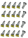 1) Includes 20pc T5 Led bulbs.  2)5pc 3-chip 3528 High Power SMD LED.  3) Direct replacement for all T5 Wedge Type W5W, 17 18 27 37 58 70 73 74 79 85 86 2721  4) Please flip the bulb horizontally if it does not light up to match the + and - p...