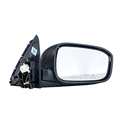 Passenger Side Mirror for Honda Accord LX/EX/SE Models 4door sedan (2003 2004 2005 2006 2007) Manual Folding Power Adjusting Non-Heated Right Side Rear View Outside Door Mirror Replacement - HO1321152: Automotive