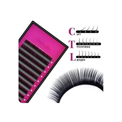 Lash 1 Case All Size Jbcd Eyelash Extensions Mink Black Fake False Eyelashes Curl,D,0.07mm,14mm]()