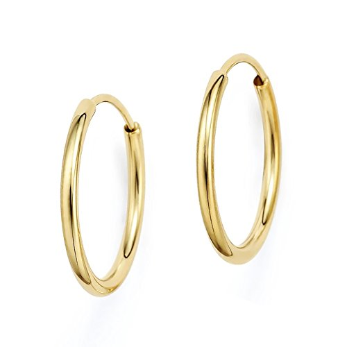 Yellow Gold Round Endless Earrings product image