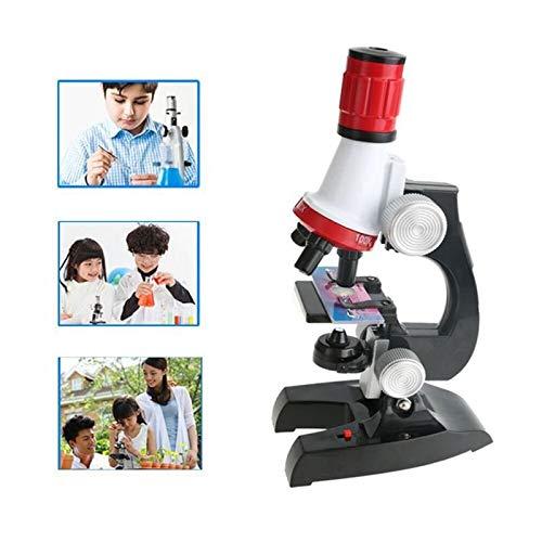 SHUGJAN Lab Kit Microscopio Led 100X-400X-1200X Home La Escuela Ciencias de la Educación de juguete de regalo refinado…