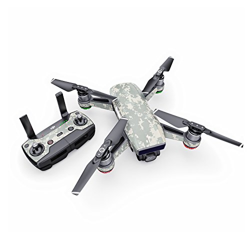 ACU Camo Decal for Drone DJI Spark Kit - Includes Drone Skin, Controller Skin and 1 Battery Skin