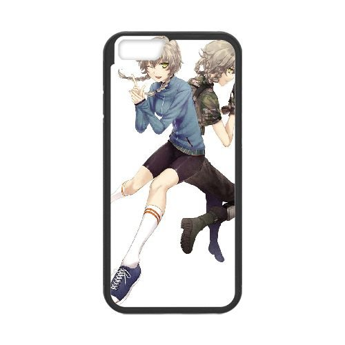 Steins Gate coque iPhone 6 4.7 Inch cellulaire cas coque de téléphone cas téléphone cellulaire noir couvercle EEECBCAAN01494