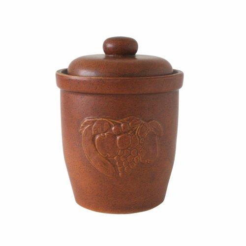 Axentia 820426 Mehrzwecktopf Keramik braun mit Deckel 7 Liter