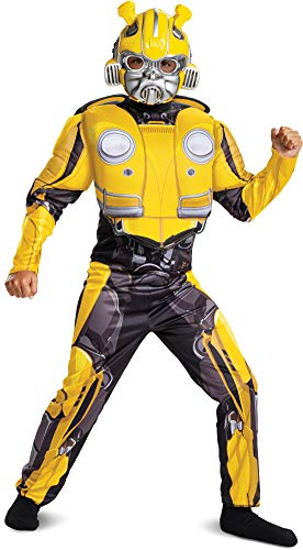 Child's Boy's Transformers Bumblebee Classic Muscle Chest Costume Medium -