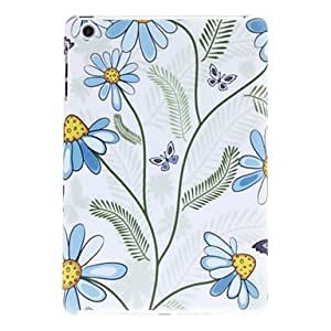 Buy Blue Flower and Butterfly Pattern Hard Case for iPad mini