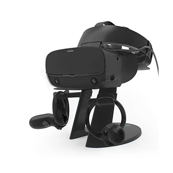AFAITH VR Stand, VR Headset Display Stand with Game Controller Holder for Oculus Rift S/Oculus Quest/Rift Headset and Other VR Headset 1