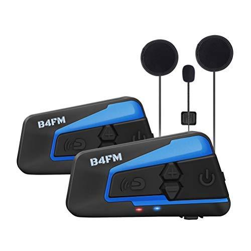 b4fm バイク用 bluetoothインカム バイクFMラジオ 4riders 4人同時通話 2種類マイク 無線インターコムヘルメット用イヤホンマイクヘッドセット 日本語取説2台セット…