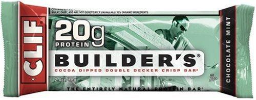 Clif Bar Builder's Bar, Chocolate Mint, 2.4-Ounce Bars, 12 Count