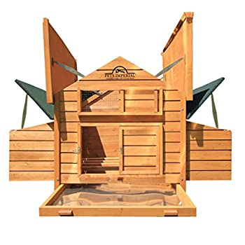 Image of Home and Kitchen Pets Imperial Double Savoy Large Chicken Coop with 2 Nest Boxes Suitable Up to 10 Small Birds