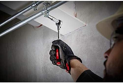 12 unidades, 3//8 color rojo Juego de llaves de carraca Milwaukee 48229001 Tradesman