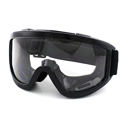 Motorcycle Riding Glasses Aviator Polarized Clear Lens Goggles UV Protection Sunglasses for Motorcycling, Motocross, Outdoor Sports Activities, Climbing, Skiing