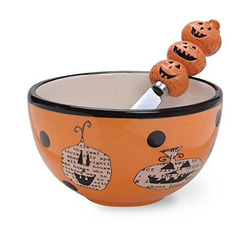 Boston International Bowl and Spreader Set, Pumpkin Toss]()