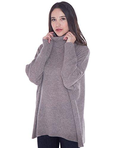 cashmere 4 U 100% Cashmere Turtleneck Oversize Sweater Pullover For Women by cashmere 4 U (Image #4)