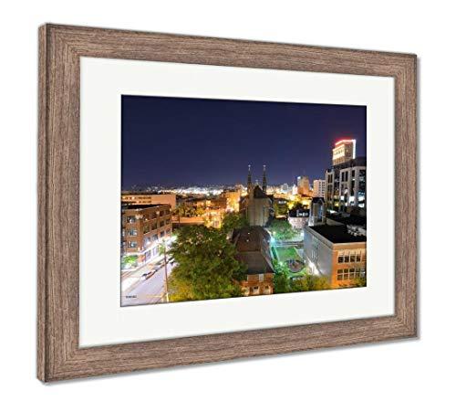 (Ashley Framed Prints Downtown Birmingham, Alabama, Wall Art Home Decoration, Color, 26x30 (Frame Size), Rustic Barn Wood Frame, AG32675273)